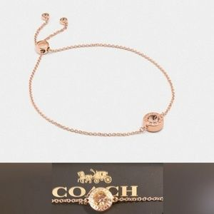 COACH | Rose Gold Open Circle Slider Bracelet